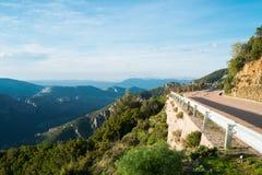 Road 125 in Sardinia. Road 125 between Baunei and Dorgali, Sardinia, Italy Royalty Free Stock Image