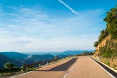 Road 125 in Sardinia. Road 125 between Baunei and Dorgali, Sardinia, Italy Royalty Free Stock Photos