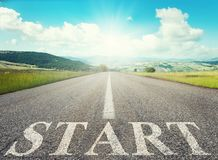Start road of career. Concept of company startup Royalty Free Stock Images
