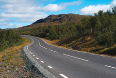 Road in scandinavian mountain landscape Stock Image