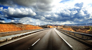 Road scenery Royalty Free Stock Images