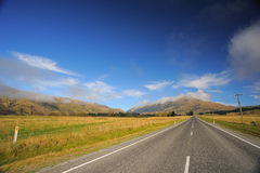 Road. Scenery Road in New Zealand royalty free stock photo