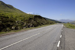 Road in Scotland montain Stock Image
