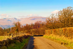 Road in the Scottish countryside. On a Spring day Stock Photography