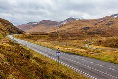 A road in the Scottish Highlands Stock Photography