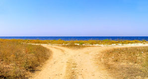 Road and  sea Stock Photo
