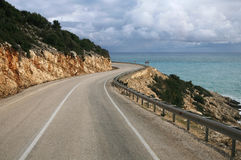 Road by the sea Stock Photography