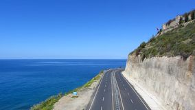 Road and sea stock footage