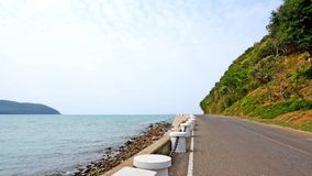 The road by the sea. Stock Image
