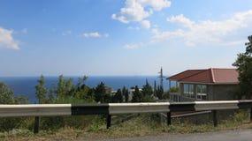 Road on the sea coast stock image