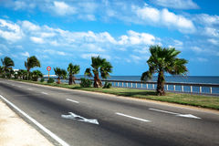 Road by the sea Royalty Free Stock Photos