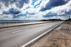 Road by sea Royalty Free Stock Photography
