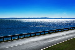 Road by the sea Royalty Free Stock Image