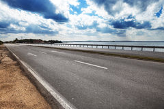 Road by the sea Royalty Free Stock Photography