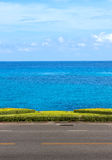 The road between sea view on blue sky Stock Photography