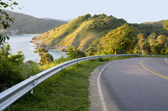 Road with sea view and mountains Stock Image