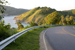 Road with sea views and mountains Stock Image