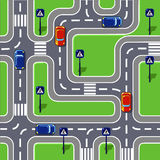 Road seamless pattern Royalty Free Stock Image