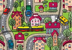 Road seamless pattern.  Stock Photography