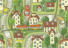 Road seamless pattern Stock Photo