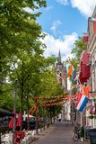 Road section in Delft Royalty Free Stock Photo