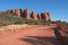 Road in Sedona's Red Desert. Stock Photo