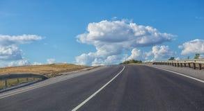 Road sent to distance to horizon Stock Photos