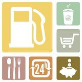 Road service icons Royalty Free Stock Photo