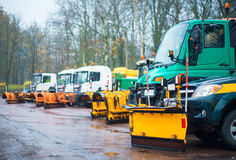 Road services are ready for winter. Stock Image