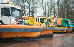 Road services are ready for winter. Royalty Free Stock Photo