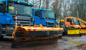 Road services are ready for winter. Royalty Free Stock Images