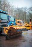 Road services are ready for winter. Royalty Free Stock Photography