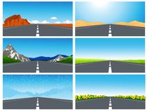 Road set Stock Images