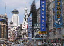 Road Shanghai - Nanjing - China stock afbeelding