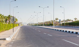Road in Sharm al Sheikh, Egypt Stock Image
