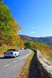 Road in Shenandoah National park at autumn Royalty Free Stock Photos