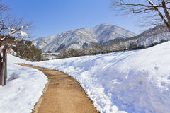 Road at Shirakawago Royalty Free Stock Photography