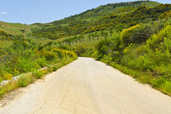 Road in Sicily Royalty Free Stock Photos