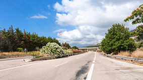 Road in Sicily in summer day Royalty Free Stock Images