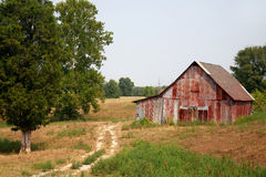 Road side barn Royalty Free Stock Photos