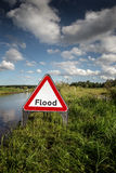 Road side flooded sign Royalty Free Stock Image