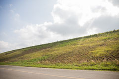 Road side hills view Stock Photography