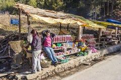 Road side shop, Bhutan Stock Images