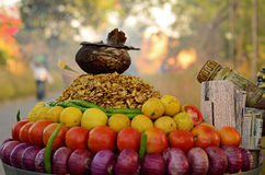 Road side snack cart Stock Image