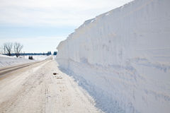 Road Side Snow Bank Stock Photography