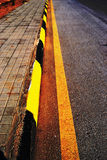 Road Side yellow line Royalty Free Stock Image