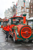 Road sightseeing train in Bergen Royalty Free Stock Images