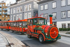 Road sightseeing train in Bergen Royalty Free Stock Photos