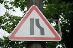 Road sign. In park royalty free stock photo