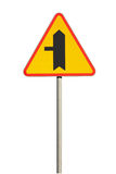 Road sign. Traffic sign - priority traffic sign royalty free stock photography